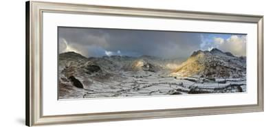 Langdale Pikes from Side Pike, Lake District, Cumbria, England-Gavin Hellier-Framed Photographic Print
