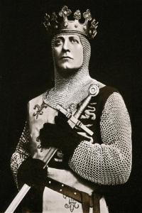 Lewis Waller (1860-191), Actor and Theatre Manager, in Henry V, 1908-1909 by Langfier