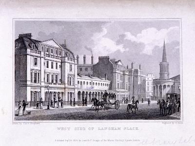 Langham Place, Marylebone, London, 1828-Samuel Owen-Giclee Print