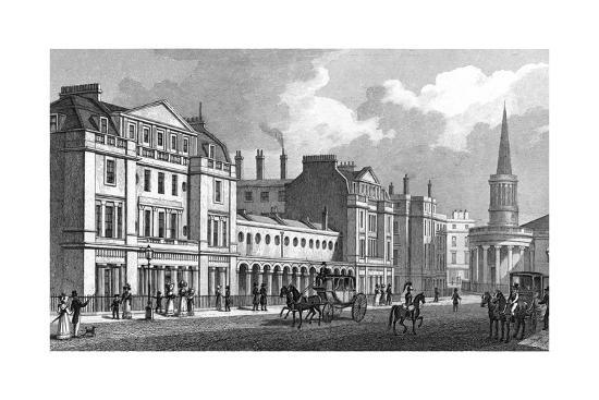 Langham Place-Thomas H Shepherd-Giclee Print