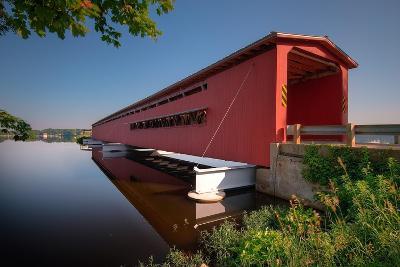 Langley Covered Bridge, Michigan-Steve Gadomski-Photographic Print