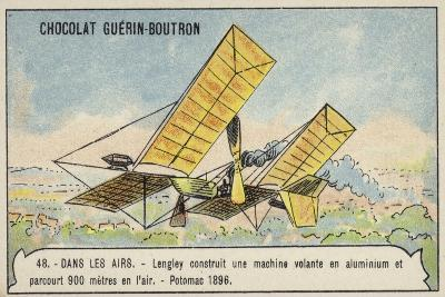 Langley's Aluminium Flying Machine Which Flew 900 Metres over the Potomac River, USA, 1896--Giclee Print