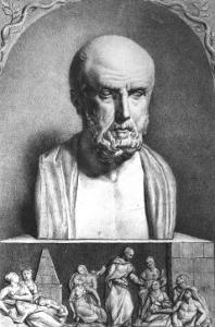 Portrait of Hippocrates, 1st Half 19th Century by Langlume