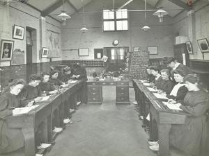 Language Lesson on Daffodils at Oak Lodge School for Deaf Girls, London, 1908