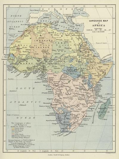 Language Map of Africa--Giclee Print