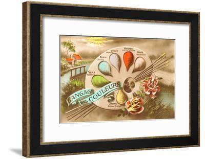 Language of Colors in French--Framed Art Print