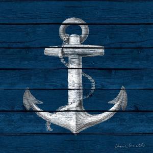Anchor on Blue Wood by Lanie Loreth