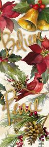Christmas Poinsettia Panel III by Lanie Loreth