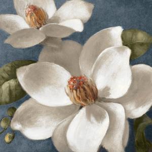 Magnolias on Blue I by Lanie Loreth
