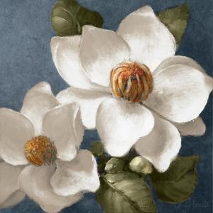 Magnolias on Blue II by Lanie Loreth