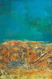 Rustic Frieze on Teal II by Lanie Loreth