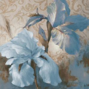 Soft Blue Blooms I by Lanie Loreth