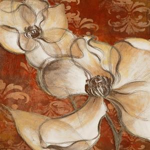 Whispering Magnolia on Red II by Lanie Loreth