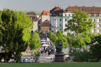 Lanner and Strauss of Statue, Wine Festival, Health Resort Park, Bathing Near Vienna, Lower Austria-Rainer Mirau-Photographic Print