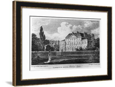 Lansdowne House, Berkeley Square, London, C19th Century- Sparrow-Framed Giclee Print