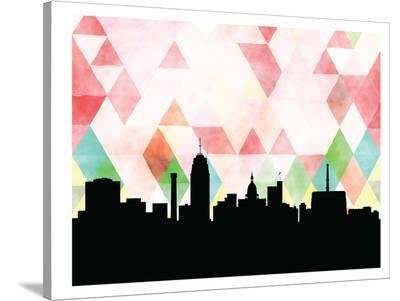 Lansing Triangle-Paperfinch 0-Stretched Canvas Print