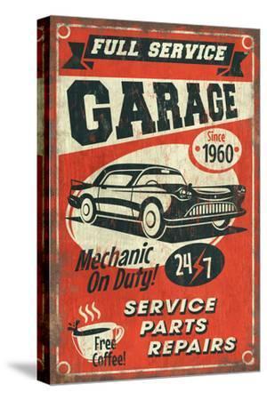 24/7 Full Service Garage - Vintage Sign