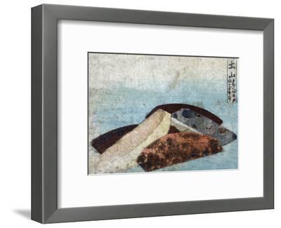 3 Combs, Japanese Wood-Cut Print