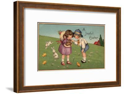 A Joyful Easter - Kids Holding a Bunny