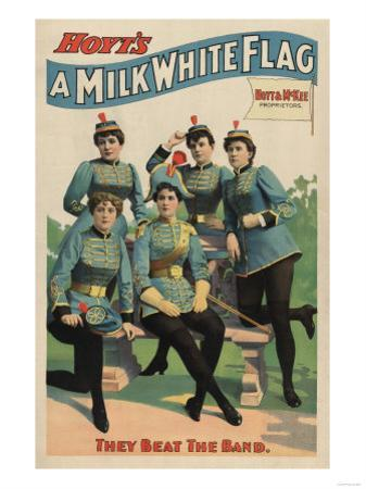 """""""A Milk White Flag"""" Woman's Marching Band Poster"""