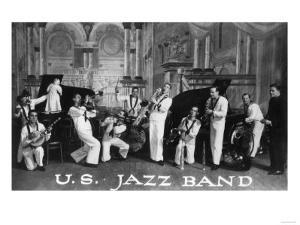 A US Navy Jazz Band by Lantern Press