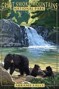 Abrams Falls - Great Smoky Mountains National Park, TN by Lantern Press