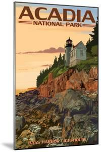 Acadia National Park, Maine - Bass Harbor Lighthouse by Lantern Press