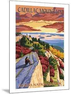 Acadia National Park, Maine - Cadillac Mountain by Lantern Press