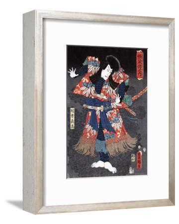 Actor Ichikawa Danjuro VIII as Kaja Yoshitaka, Japanese Wood-Cut Print