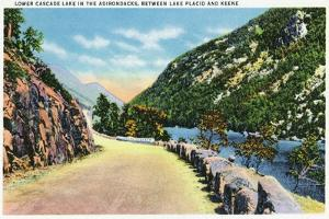Adirondack Mts, New York - View of Lower Cascade Lake by Lantern Press