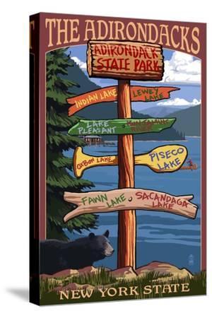 Adirondack, New York - Indian Lake Signpost Destinations