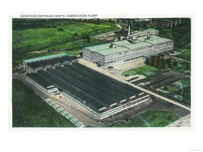 Aerial View of Goodyear-Zeppelin Fabrication Plant - Akron, OH
