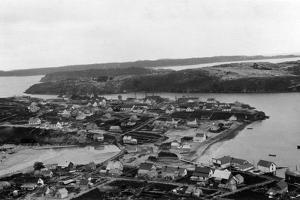 Aerial view of Kodiak, Alaska Photograph - Kodiak, AK by Lantern Press