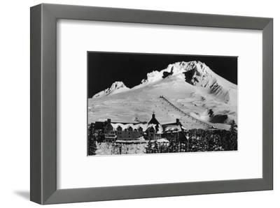 Aerial View of Timberline Lodge and Ski Lift - Mt. Hood, OR
