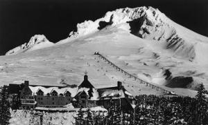 Aerial View of Timberline Lodge and Ski Lift - Mt. Hood, OR by Lantern Press