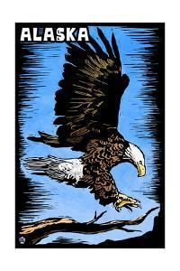 Alaska - Bald Eagle - Scratchboard by Lantern Press
