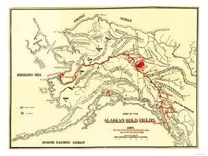 Alaska - Panoramic Map by Lantern Press