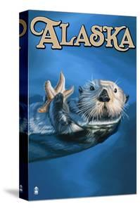 Alaska - Sea Otter by Lantern Press