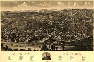 Albany, New York - Panoramic Map by Lantern Press