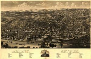 Albany, New York - Panoramic Map by Lantern Press