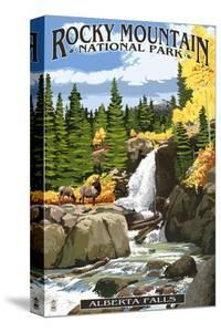 Alberta Falls - Rocky Mountain National Park by Lantern Press