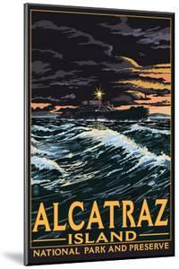 Alcatraz Island Night Scene - San Francisco, CA by Lantern Press