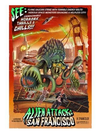 Alien Attack! San Francisco, California by Lantern Press