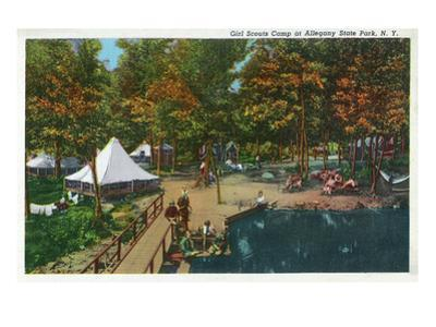 Allegany State Park, New York - View of the Girl Scouts' Camp by Lantern Press