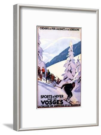 Alsace-Lorraine, France - Spectators Watching Skier Poster - Alsace-Lorraine, France