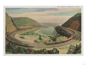 Altoona, Pennsylvania, The Famous Horseshoe Curve by Lantern Press