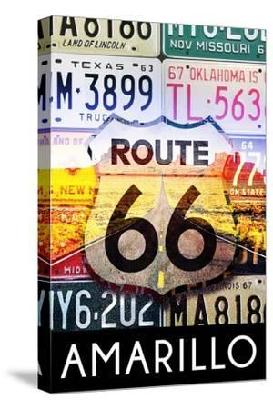 Amarillo Texas - Route 66 License Plates