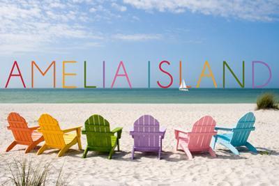 Amelia Island, Florida - Colorful Beach Chairs