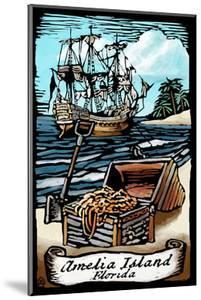 Amelia Island, Florida - Pirate - Scratchboard by Lantern Press