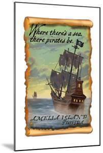 Amelia Island, Florida - Pirate Ship by Lantern Press